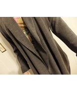 Wome M L XL 12 14 16 Cardiga Sweater Coat Jacket Knit Open Shawl Long Ca... - $23.77