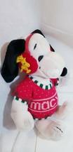 Vintage (1972) Peanuts Macy's Sweater Snoopy Dog Woodstock Earmuff Plush... - $48.02