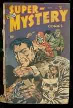 SUPER-MYSTERY COMICS v.8 #4 1949-WILD SKULL COVER G- - $94.58
