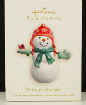 Hallmark Ornament WELCOME. FRIENDS Snowman & Cardinal 2007 New in Box - $13.99