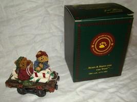 Peppermint & Spearmint Sweet Ride Boyd's Bears Bearstone Christmas Ornament Box - $20.00