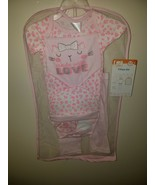Infant Baby Girl 7 Piece Gift Set Outfit Pink  6-9 Months NWT - $16.99