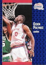 Olden Polynice ~ 1991-92 Fleer #94 ~ Clippers - $0.05