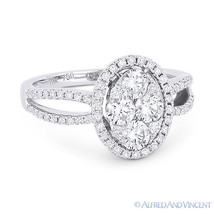 1.05 ct Round Brilliant Cut Diamond Pave 18k White Gold Right-Hand Fashion Ring - €2.590,31 EUR