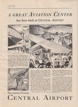 1929 Central Airport Philadelphia PA Ad: Great Aviation Center Has Been ... - $7.87