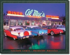LEWIS - Al Mac Diner Metal Tin Sign Wall Art - $19.79