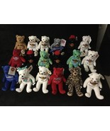 Hard Rock Charlie Bears Plush Collectible Bear New with Tag LOT of 18 - $155.00