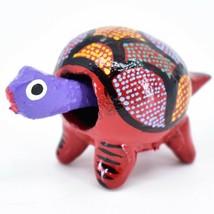 Handmade Oaxacan Alebrijes Wood Carving Folk Art Turtle Bobble Head Figurine image 2