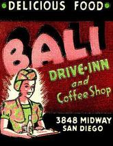 1930's - Bali Drive Inn - San Diego CA - Matchbook Advertising Poster - $9.99+