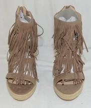 BF Betani Shiloh 8 Stone Fringe Wedge Heel Sandals Size 7 image 2