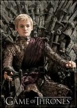 Game of Thrones Joffrey Baratheon on Throne Photo Image Refrigerator Mag... - $3.99