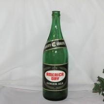 AMERICA DRY VINTAGE GREEN SODA BOTTLE GINGER ALE CRUSH TORONTO CANADA LA... - $12.95