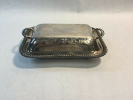 VINTAGE Crown Silver Co Silver Plate Lidded Warming Dish Handled Serving... - $56.77