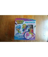Mermaids Shrinky Dinks 10 Standing Figures Color Bake Shrink - $9.49