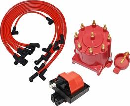 87-94 Chevy GM 305 350 454 EFI Distributor Tune Up Kit, & 8.0mm Spark Plug Wires image 1