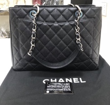 BRAND NEW AUTH CHANEL QUILTED CAVIAR GST GRAND SHOPPING TOTE BAG SHW image 2