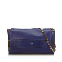 Pre-Loved Chloe Purple Others Leather Elle Crossbody Bag Italy - $433.84