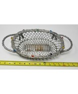 """Chain mail steel linked oval casserole holder for dinner industrial 12"""" ... - $7.91"""