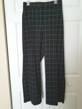 LANE BRYANT Size 28 Black w/Blue Window Pane Dress Pants Slacks Pockets - $29.65