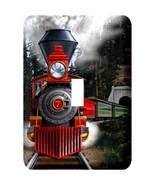 METAL RAILROAD LIGHT SWITCH COVER Railroad and Train Theme Kids Room Dec... - $14.84
