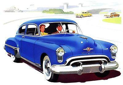 Primary image for 1949 Oldsmobile 88 Club Sedan - Promotional Advertising Poster