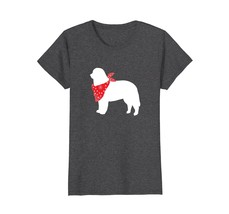 Bernese Mountain Dog Wearing Red Bandana Silhouette T-Shirt - $19.99+