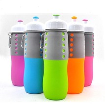 1pcs  Foldable Collapsible Sport Water Bottle Silicone Folding Kettle - $13.99