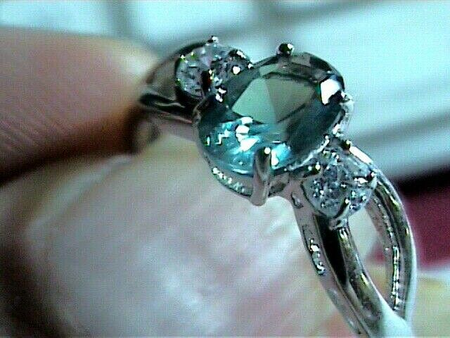 sterling 925 silver ring Russian alexandrite 7 small color change dainty trio