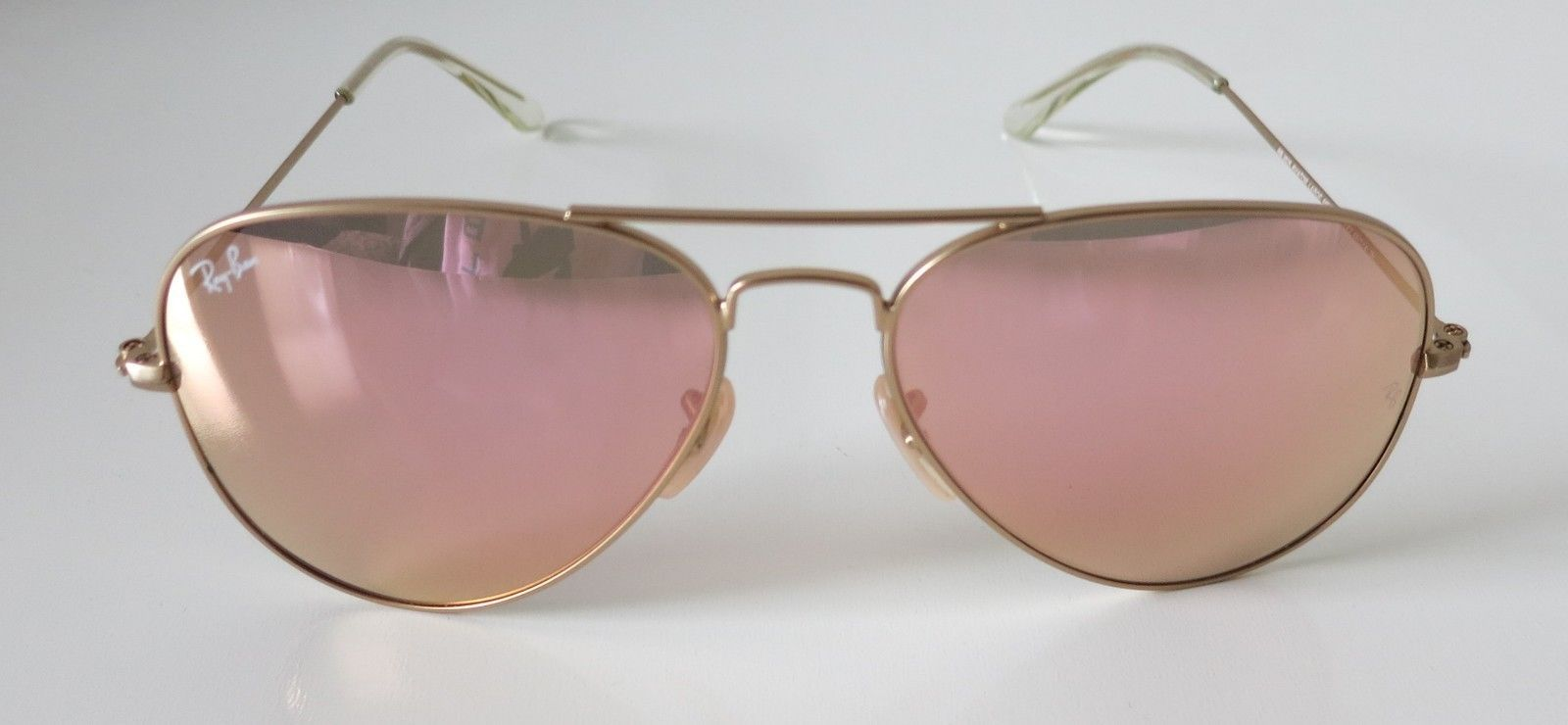 942a4eb337 57. 57. Previous. New Ray-Ban RB3025 112 Z2 Aviator Gold Frame Copper Flash  58mm Lens Sunglasses
