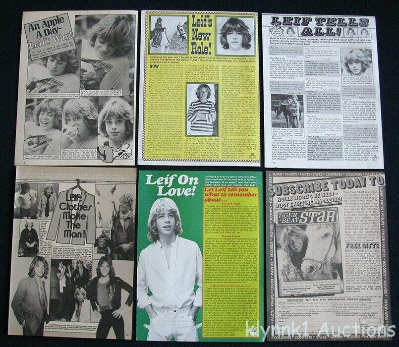 Leif Garrett Teen Idol 12 Full page Magazine Clippings 1970s V448