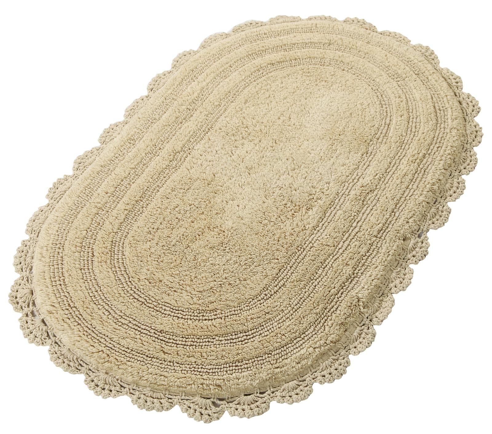 Reversible 100% Long Staple Cotton Yarn Hand Crochet, & Tufted 21*34 Bath Rug
