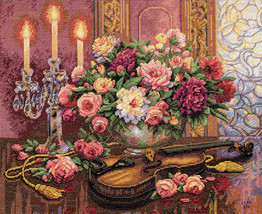 """Dimensions/Gold Collection Counted Cross Stitch Kit 16""""X13""""-Romantic Floral (14  - $53.44"""
