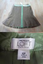 Women's Petite Ann Taylor LOFT Sz 10P NWT Brown & Green Skirt - $14.01