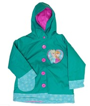 Western Chief Girls Disney Frozen Snowflake Sisters Hooded Rain Coat Siz... - $22.99