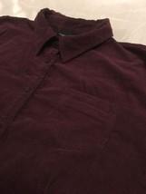 Sonoma Life Style Button Front Top Juniors Sz XL Burgundy Corduroy Free Shipping - $12.99