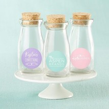 Personalized Vintage Milk Bottle Favor Jar - Custom Design (2 Sets of 12)  - $93.99