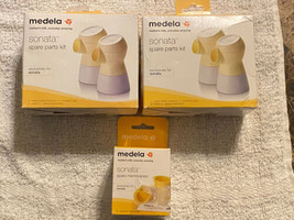 Lot Of 2 Boxes MEDELA SONATA SPARE PARTS KIT With Extra Membranes - $39.59