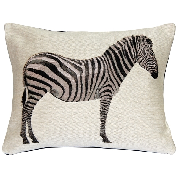 Primary image for Pillow Decor - Plains Zebra French Tapestry Throw Pillow 15x19