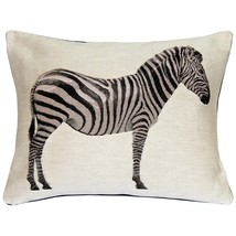 Pillow Decor - Plains Zebra French Tapestry Throw Pillow 15x19 - £61.25 GBP