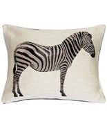 Pillow Decor - Plains Zebra French Tapestry Throw Pillow 15x19 - $79.95