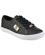 G by GUESS Backer2 Women's Lace-Up Sneakers Shoes (6, Black)