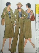 Vogue Sewing Pattern 9436 Jacket, Skirt, Pants, Shirt Vintage 1970s Uncu... - $17.99