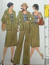 Vogue Sewing Pattern 9436 Jacket, Skirt, Pants, Shirt Vintage 1970s Uncu... - $17.99
