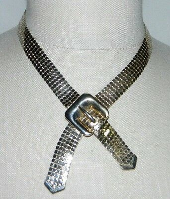 Primary image for VTG CORO Gold Tone Metal Mesh Belt Choker Necklace