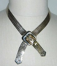 VTG CORO Gold Tone Metal Mesh Belt Choker Necklace - $39.60