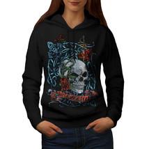 Rose Skeleton Death Skull Sweatshirt Hoody Warrior Women Hoodie - $21.99+