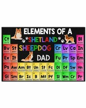 Elements Of A Shetland Sheepdog Dad Horizontal Poster - Funny Gift For F... - $25.59+