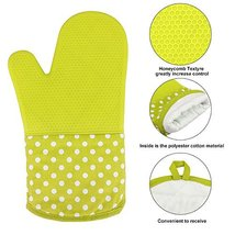 KEDSUM Heat Resistant Silicone Oven Mitts Extra... - $22.01