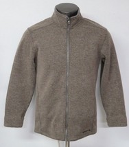 Mens Merrell Full Zip Brown Jacket Long Sleeve Size Small S Wool Blend W... - $26.72