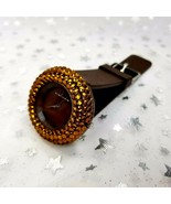 VIA NOVA Rhinestone Watch - Brown Orange-Pre-Owned, Barely Used. Women's... - $11.55